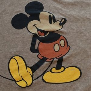 Gray  Disney Mickey Mouse T-Shirt